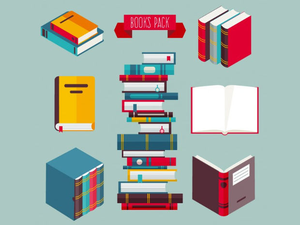Colored Books Vector