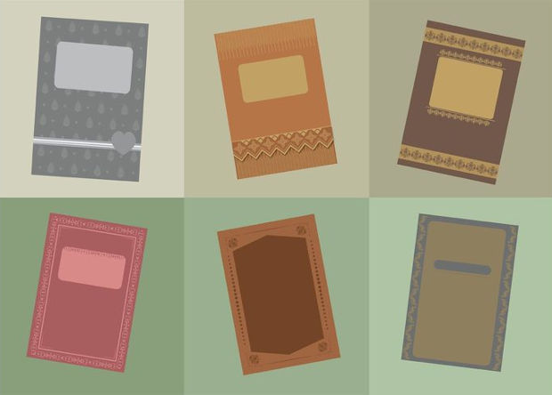 Vintage Books Cover Vector