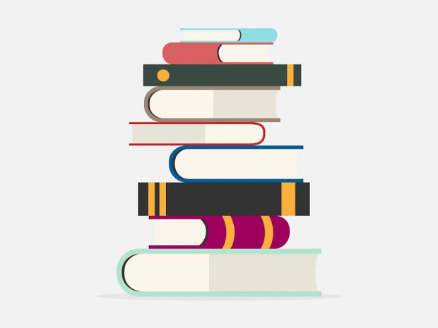 Stacked School Book Vector