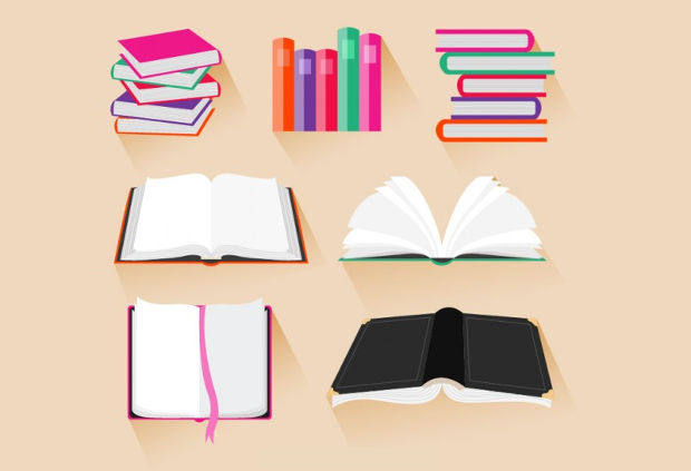 Cool Books Vector