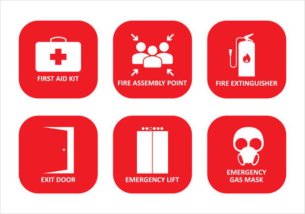 Emergency Safety Icons