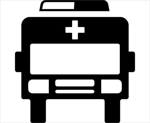 Frontal Ambulance Safety Icon