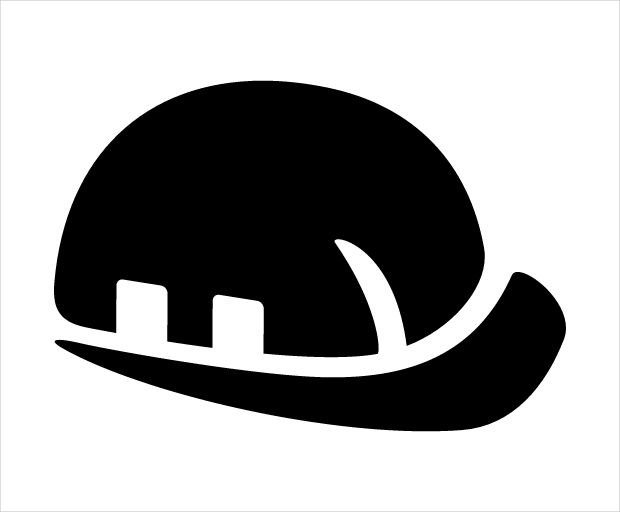 Worker Helmet Safety Icon