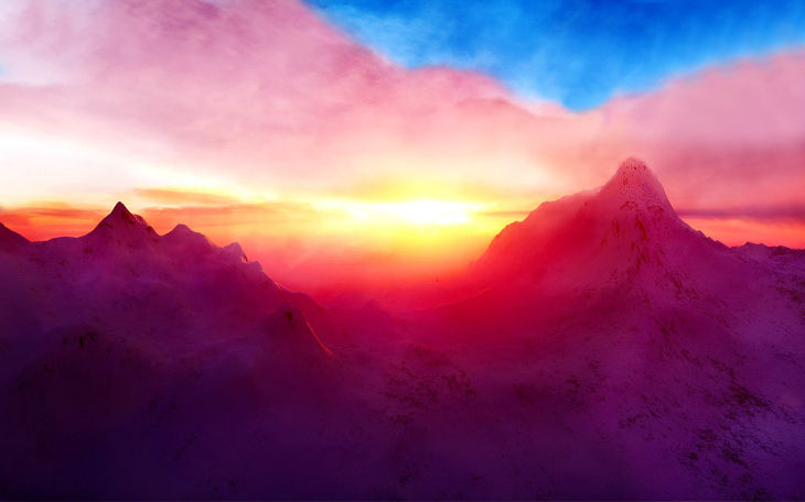 mountain pastel background