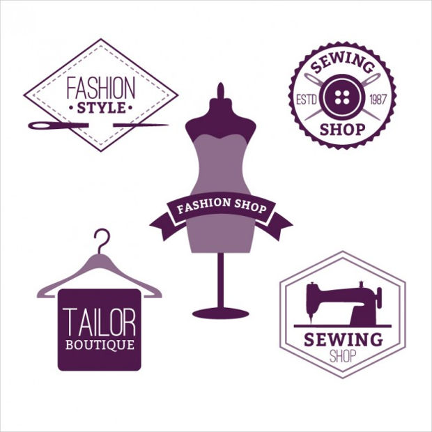 Fashion Shop Badges Vector