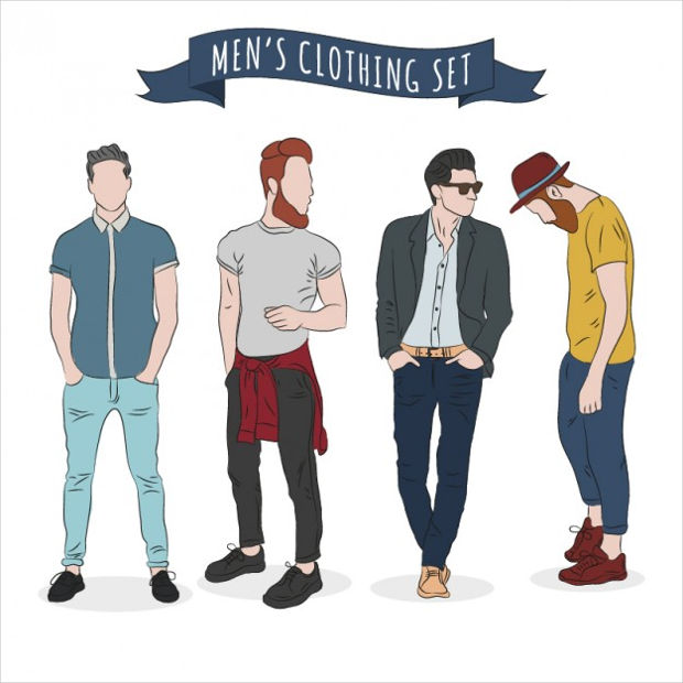 Men's Clothing Fashion Vector