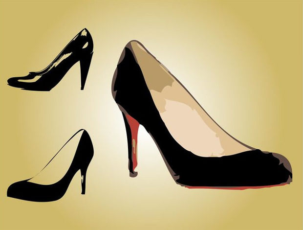 Fashionable Shoes Vector