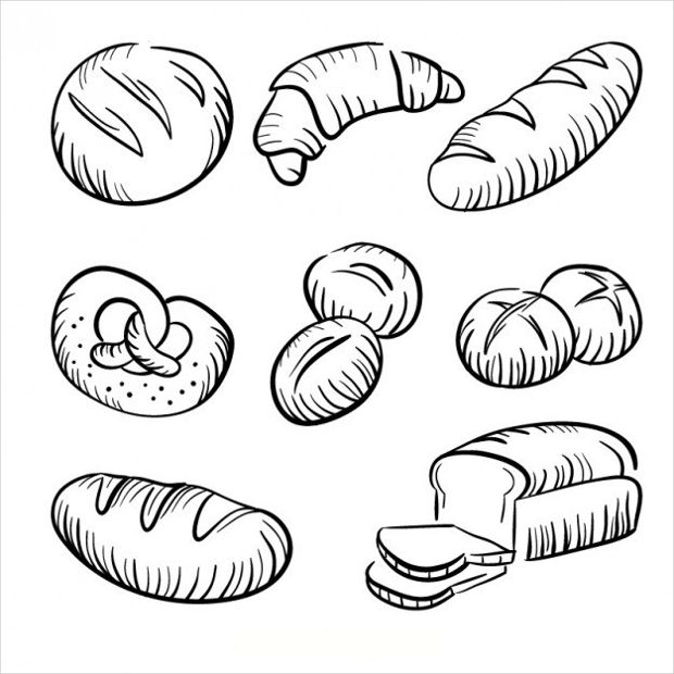 Bread Drawing Vector