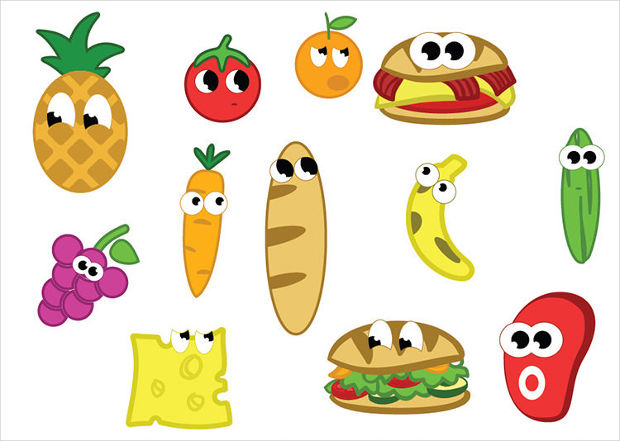 Cartoon Food Vector