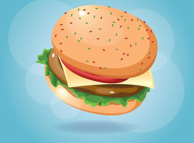 Burger Food Vector