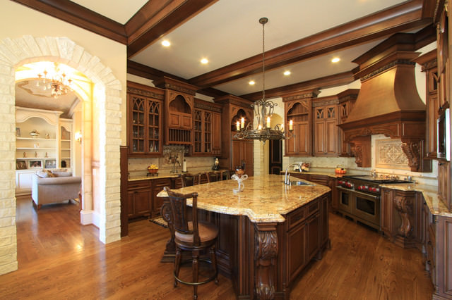 27 traditional kitchen designs decorating ideas design for Luxury kitchen layout