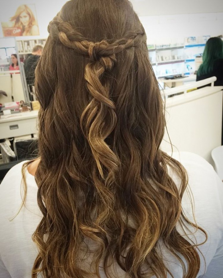Braided Knot Hairstyle
