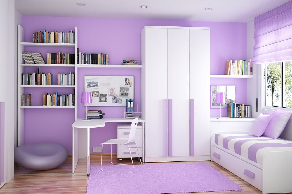 Purple Kid Room Interior Design