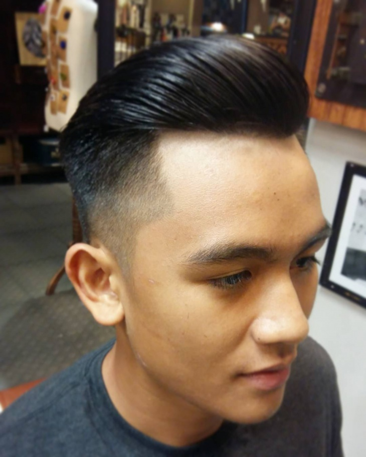 Clean Combover Faded Hairstyle