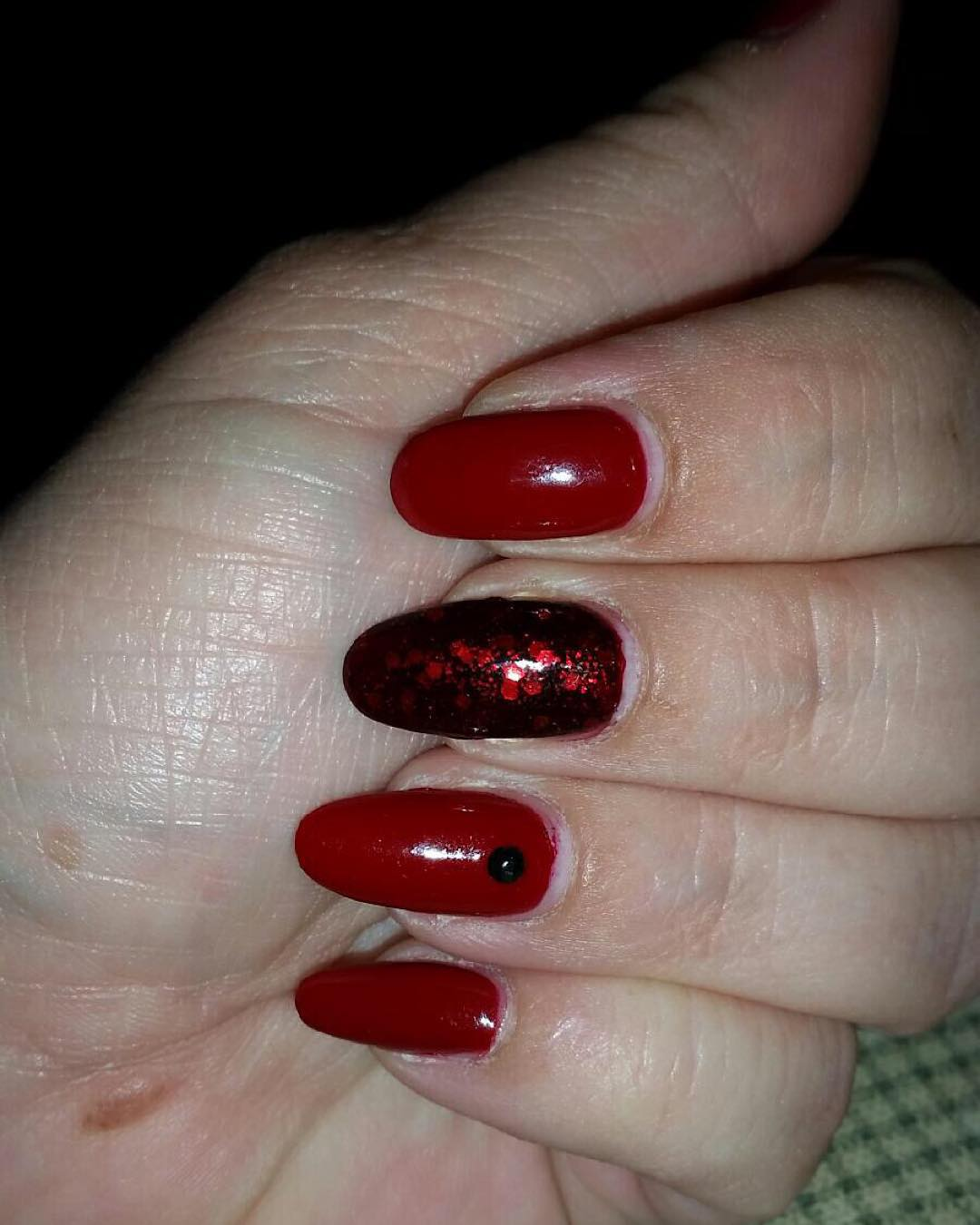beautiful black and red nail designs