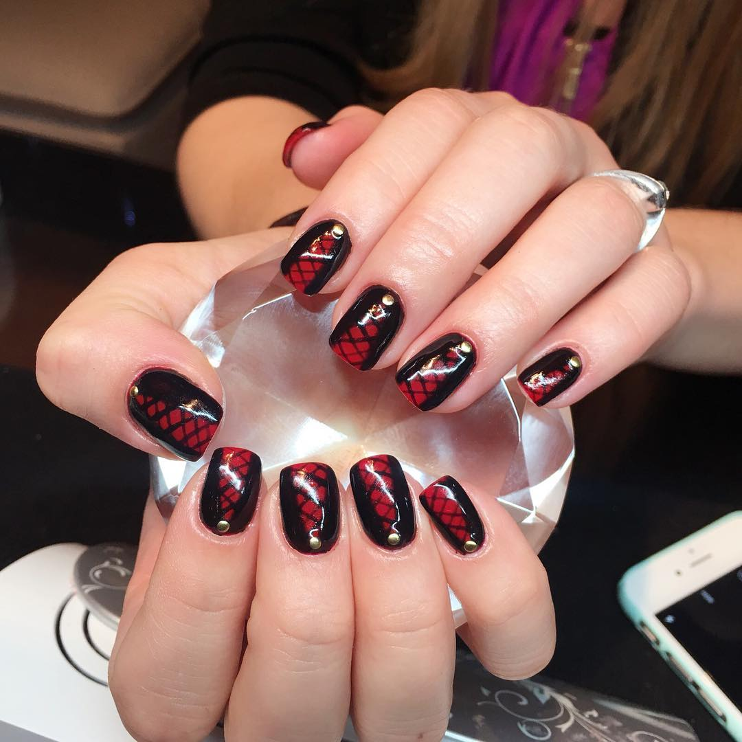 21 Black And Red Nail Art Designs Ideas Design Trends Premium