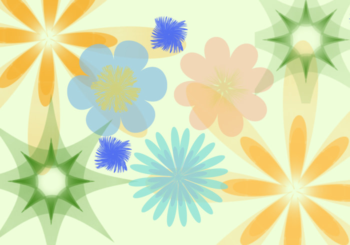Abstract Flower Brush