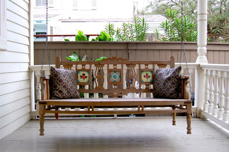 20 handmade porch swing designs decorating ideas for Victorian porch swing plans