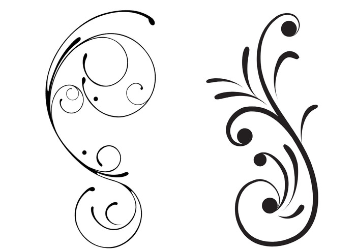 Floral Scrolls Brushes