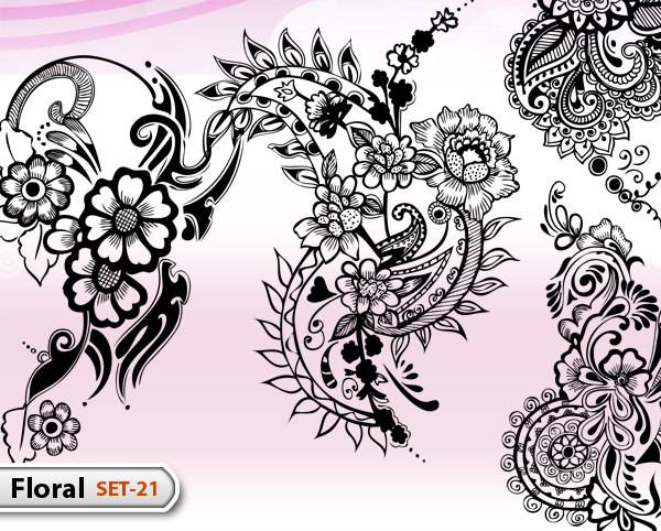 Elegant Floral Brushes