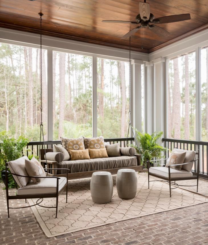homemade porch swing