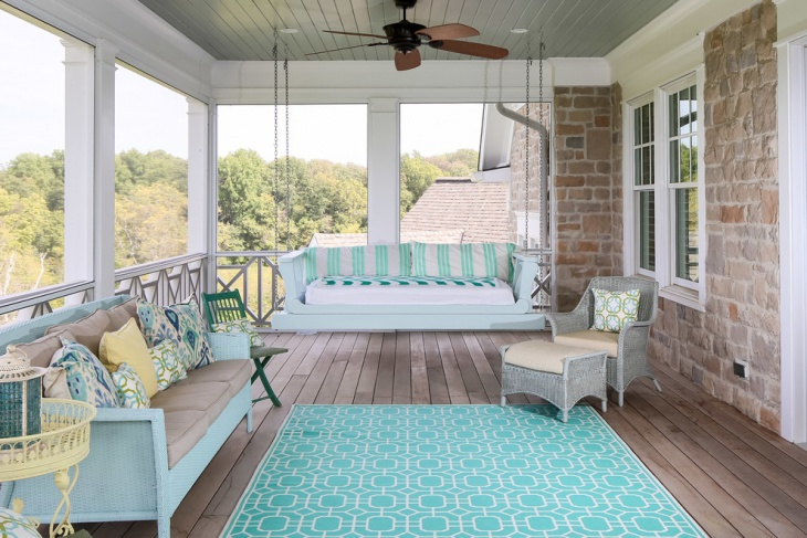 beach style porch swing design