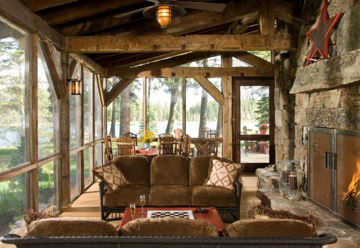 Rustic Handmade Porch Swing