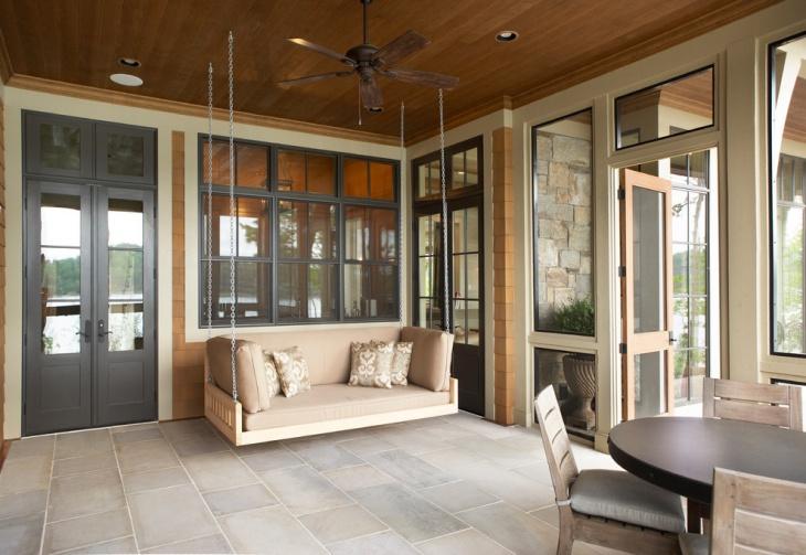 Freestanding Porch Swing Design Idea