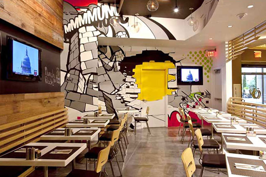Attractive Restaurant Dining Room Design