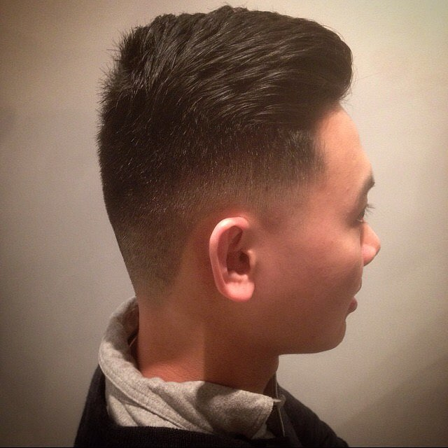 Classic Fade Comb Over Haircut