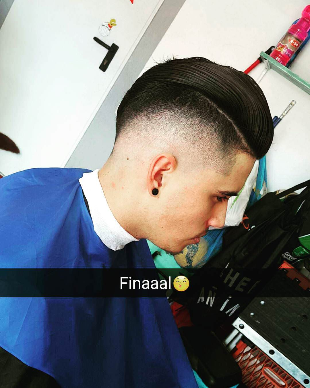 Classic Fade Comb Over Hairstyle