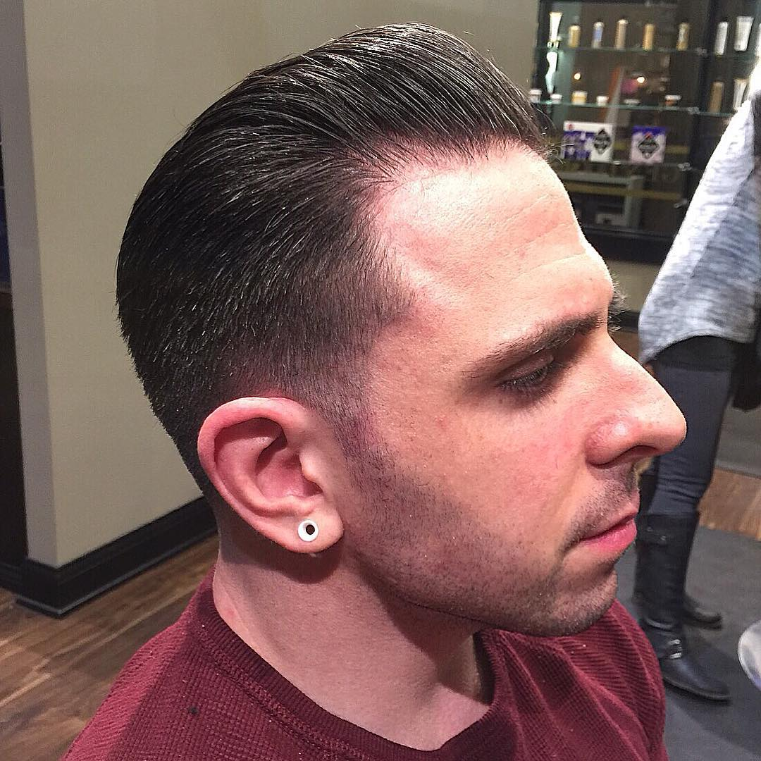 comb over fade haircut design