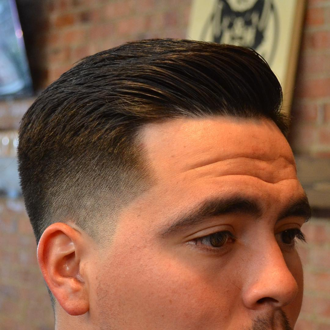Fade Haircut With Line On The Side Hairs Picture Gallery