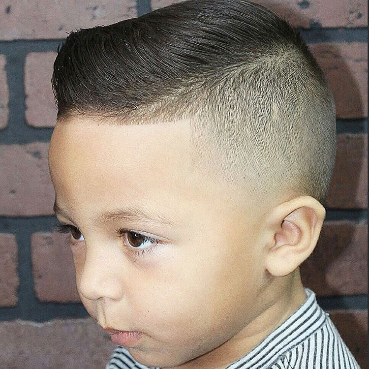 comb over fade hairstyle for kids