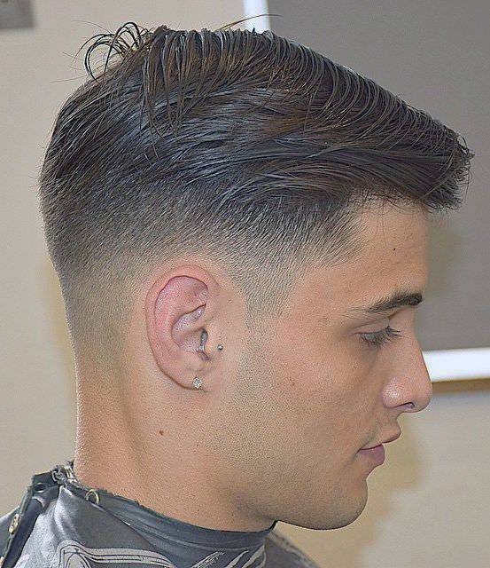 comb over fade hairstyle for men
