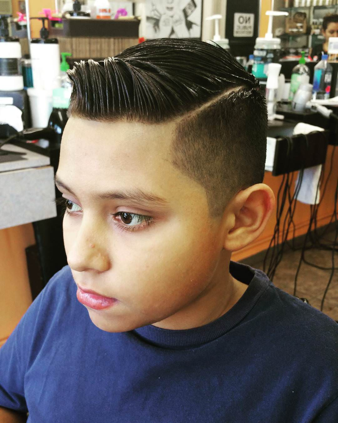 Comb Over Medium Fade