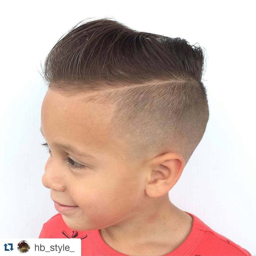 Kids Comb Over Fade Hairstyle