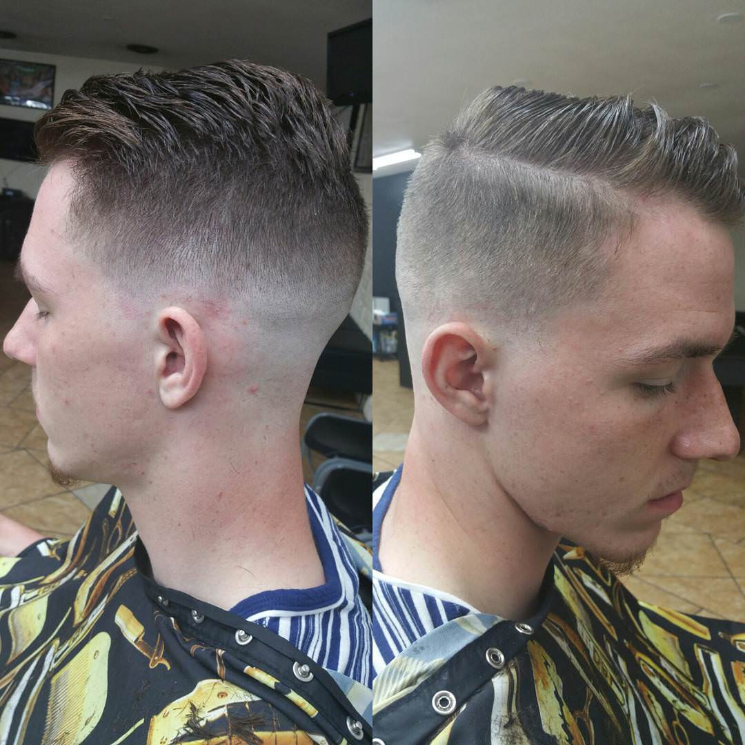 mid fade comb over haircut design1