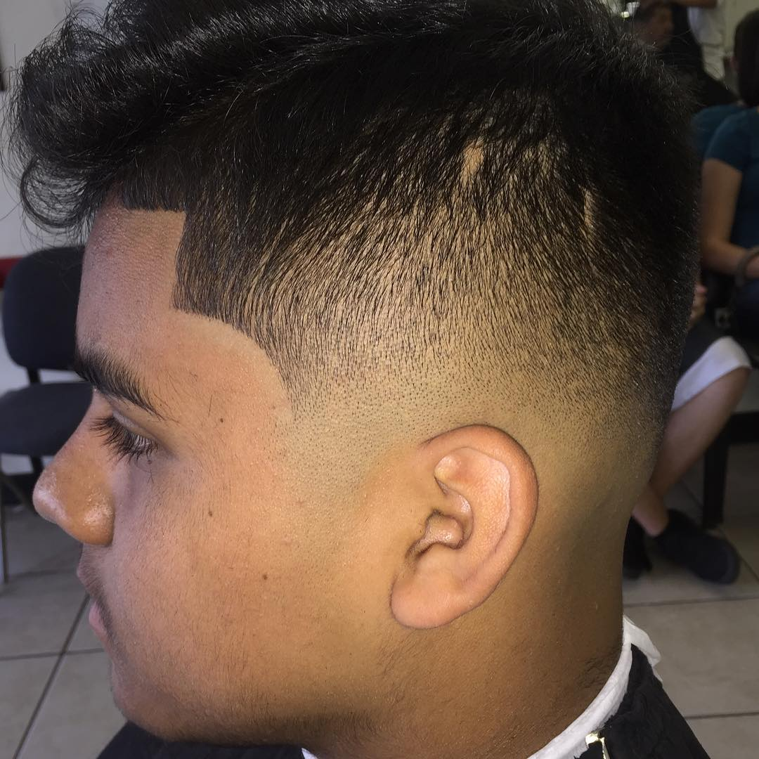Mid Fade Comb Over Hairstyle