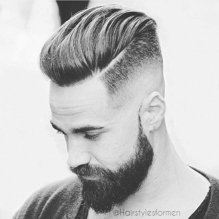 Shaved Back Fade Hairscut