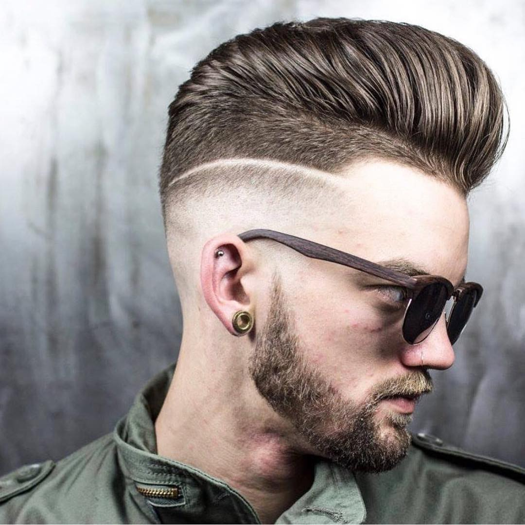 Shaved Back Fade Hairstyle
