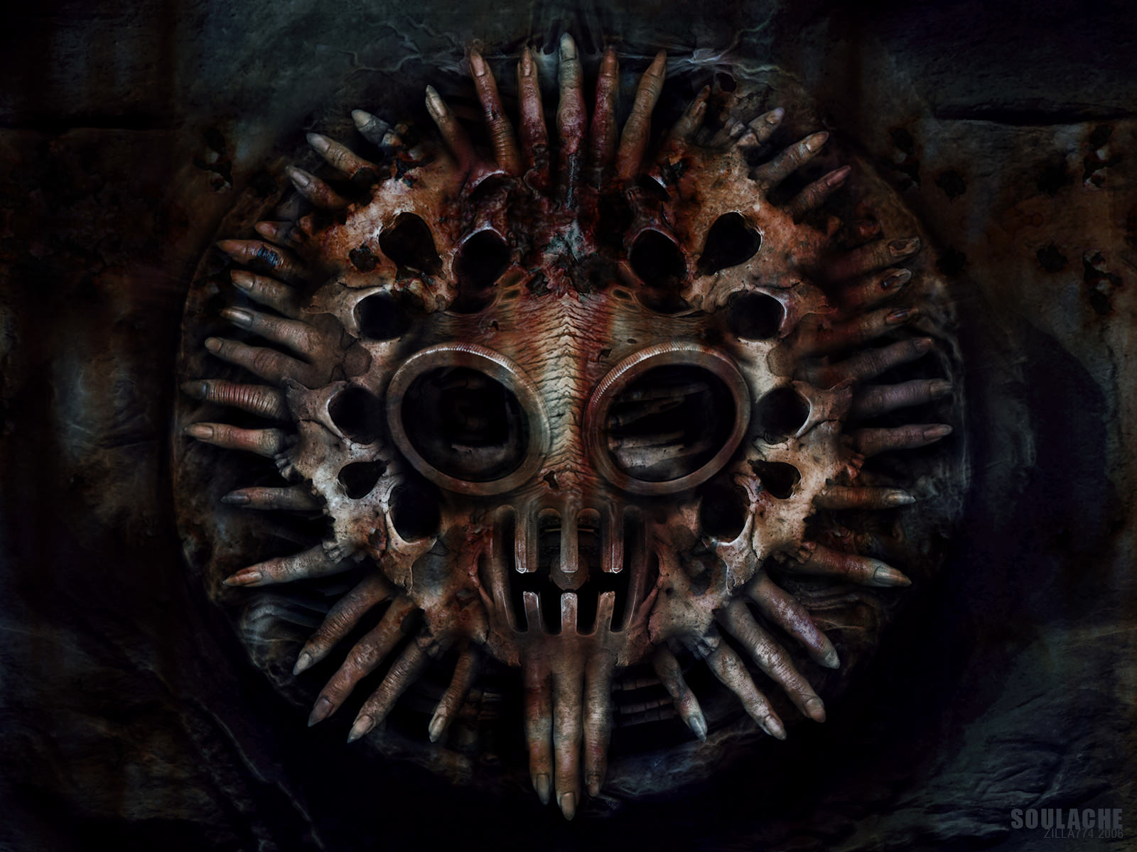 Creepy Rustic Mask Background