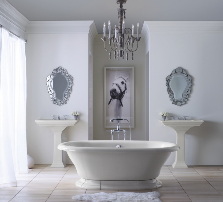 Vintage Bathroom With Venetian Mirrors