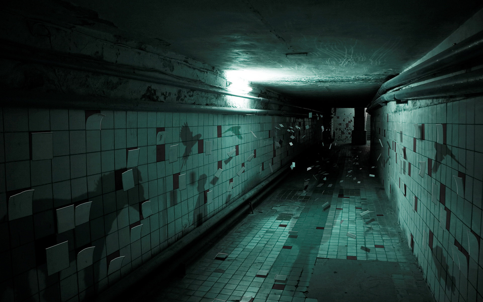 Creepy Subway Background