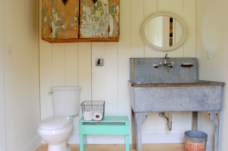 Chic Farmhouse Vintage Bathroom