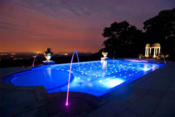 Pool Landscape Design With Lights