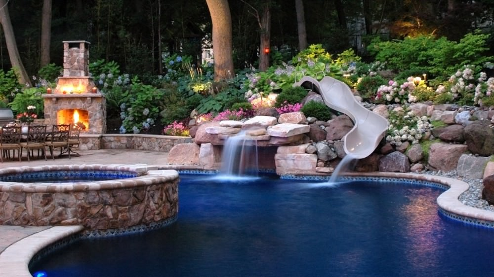 28 pool landscape designs decorating ideas design for Residential swimming pool designs