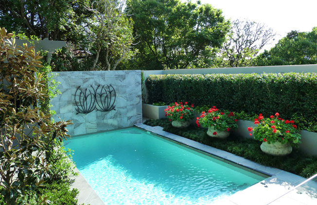 28 pool landscape designs decorating ideas design for Garden designs around pools