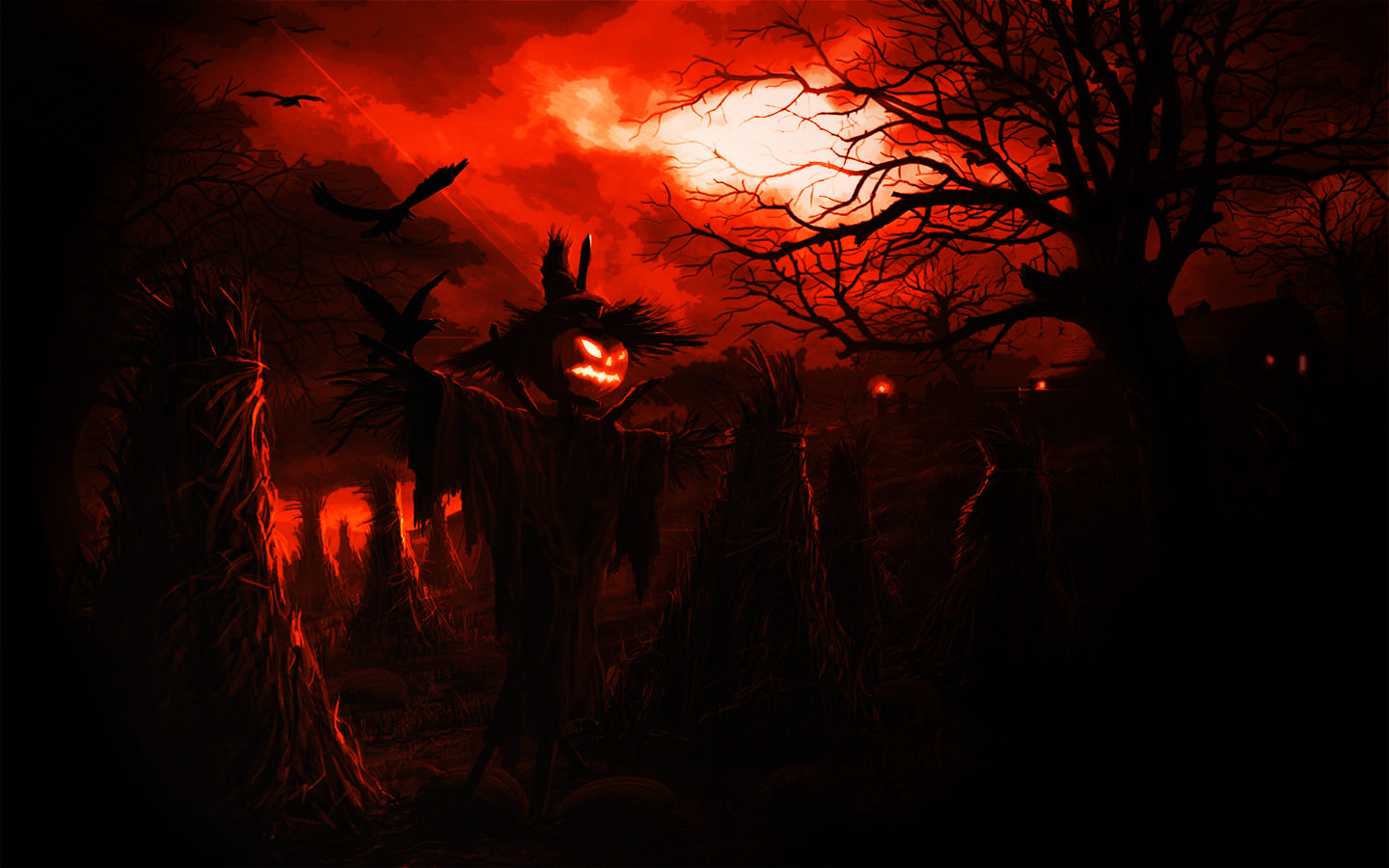 Creepy Scarecrow Background2