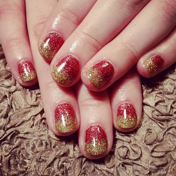 26 Red And Gold Nail Art Designs Ideas Design Trends Premium - Gold And Red Nail Art Gallery - Easy Nail Designs For Beginners Step